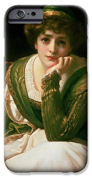 Leighton Frederic 1830-96 iPhone Cases - Desdemona iPhone Case by Frederic Leighton