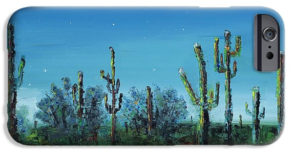 Desert Scape iPhone Cases - Desert Blue iPhone Case by Frances Marino