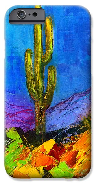 Picturesque iPhone Cases - Desert Giant iPhone Case by Elise Palmigiani