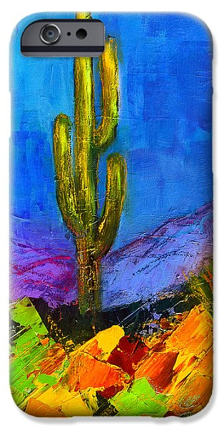 Vivid iPhone Cases - Desert Giant iPhone Case by Elise Palmigiani