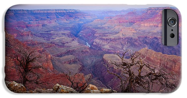 Grand Canyon iPhone Cases - Desert Glow iPhone Case by Mike  Dawson