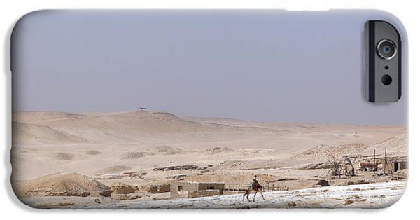 Camel Photographs iPhone Cases - desert in Egypt iPhone Case by Joana Kruse