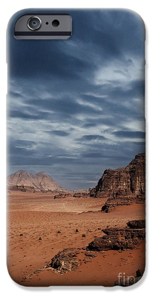 East Pyrography iPhone Cases - Desert iPhone Case by Jelena Jovanovic