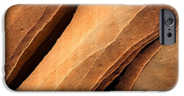 Sandstone iPhone Cases - Desert Lines iPhone Case by Mike  Dawson