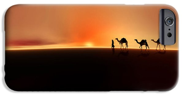 Figures iPhone Cases - Desert mirage iPhone Case by Valerie Anne Kelly