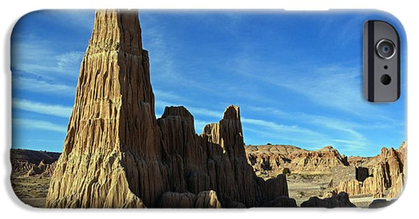 Cathedral Rock iPhone Cases - Desert Pillars iPhone Case by Debbie D Anthony