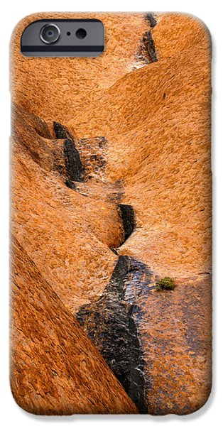 Red Rock iPhone Cases - Desert Stain iPhone Case by Mike  Dawson