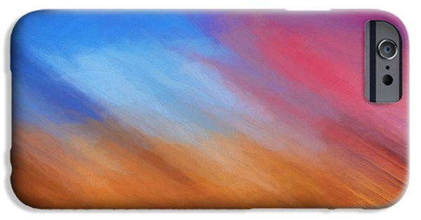 Abstract Digital Photographs iPhone Cases - Desert Storm iPhone Case by Ken Smith
