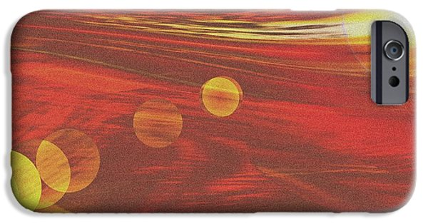 Storm iPhone Cases - Desert Storm iPhone Case by Romuald  Henry Wasielewski