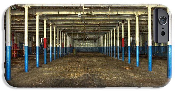 Glass Wall iPhone Cases - Deserted After Cotton Was King the Mary Leila Cotton Mill 1899 iPhone Case by Reid Callaway