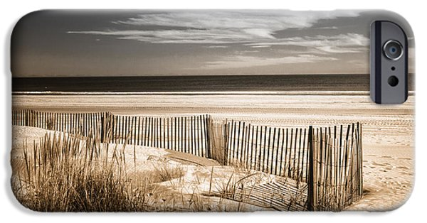 Duo Tone iPhone Cases - Deserted Beach in Duo-tone iPhone Case by Carolyn Derstine