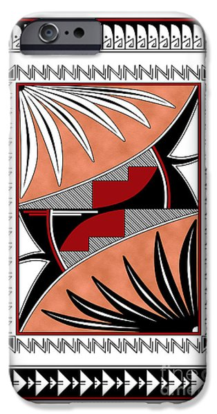 Hightower iPhone Cases - Southwest Collection - Design Three in Red iPhone Case by Tim Hightower