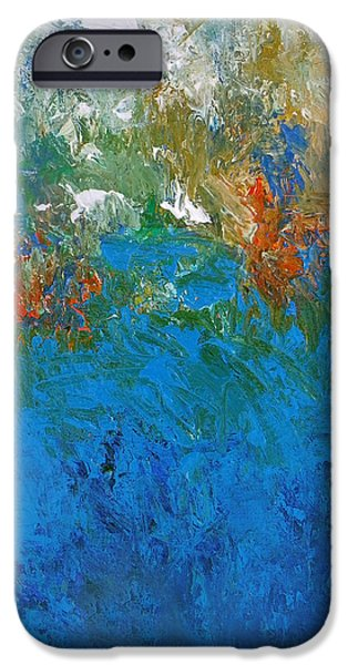 Recently Sold -  - Abstract Expressionism iPhone Cases - Design1b iPhone Case by Ron Halfant