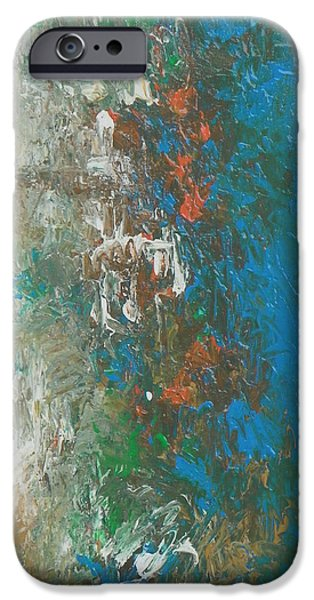 Recently Sold -  - Abstract Expressionism iPhone Cases - Design38 iPhone Case by Ron Halfant
