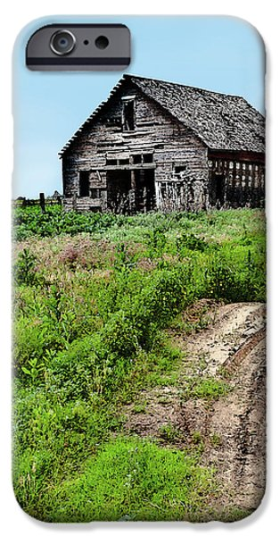 Old Barns iPhone Cases - Desolate iPhone Case by Betty LaRue