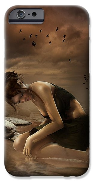 Weeping iPhone Cases - Desolation iPhone Case by Karen K