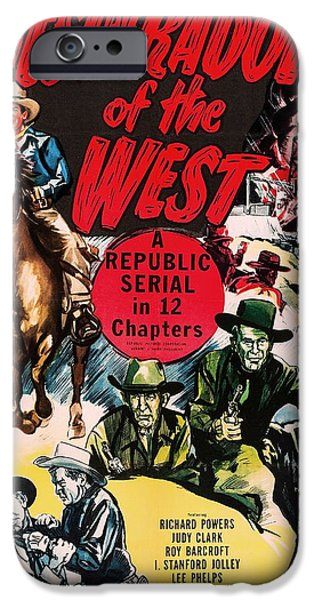 Recently Sold -  - 1950s Movies iPhone Cases - Desperadoes Of The West 1950 iPhone Case by Mountain Dreams