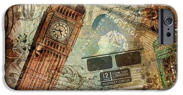Madame iPhone Cases - Destination London iPhone Case by Mindy Sommers