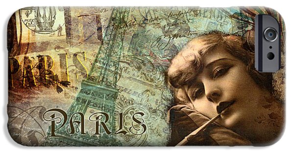 Hot Air Balloon iPhone Cases - Destination Paris iPhone Case by Mindy Sommers