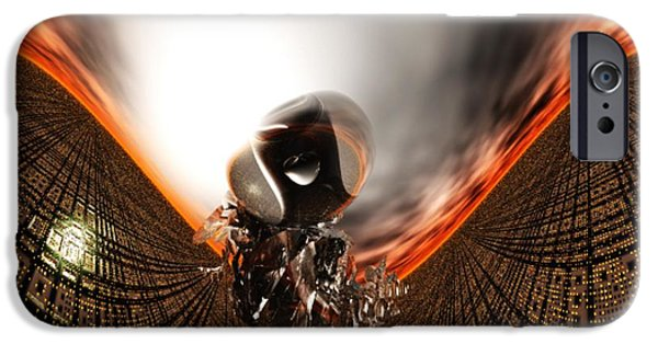 Gina Lee Manley iPhone Cases - Destruction iPhone Case by Gina Lee Manley
