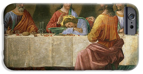 The Followers Paintings iPhone Cases - Detail from the Last Supper iPhone Case by Domenico Ghirlandaio