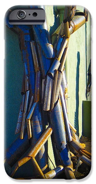 Rust Sculptures iPhone Cases - Detail Metal Sculpture 4 iPhone Case by Tamara Kulish