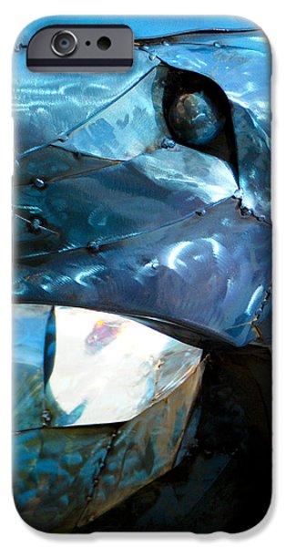 Santa Sculptures iPhone Cases - Detail Metal Sculpture 8 iPhone Case by Tamara Kulish