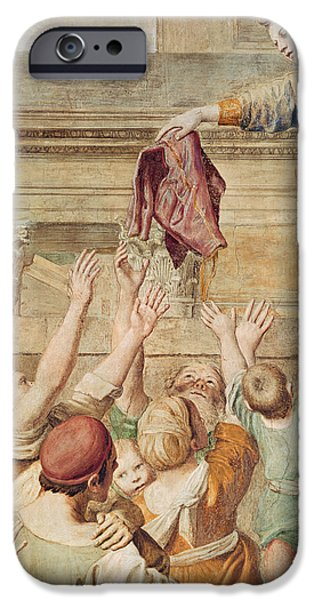 Stone Steps iPhone Cases - Detail of Saint Cecilia Distributing Alms iPhone Case by Domenichino