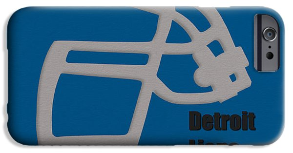 Lion Art iPhone Cases - Detroit Lions Retro iPhone Case by Joe Hamilton