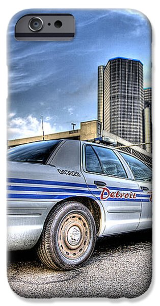 Detroit Police iPhone Case by Nicholas  Grunas