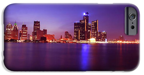 Electronic iPhone Cases - Detroit Skyline 2 iPhone Case by Gordon Dean II