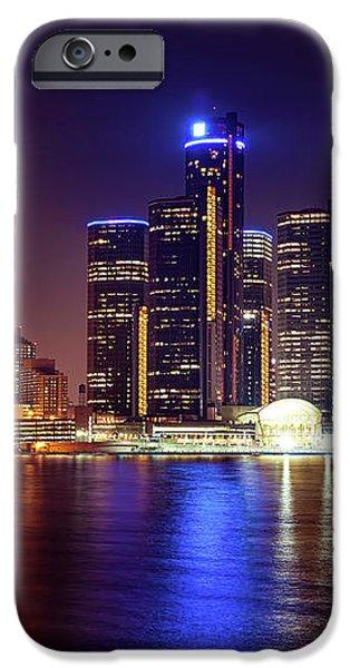 Detroit Skyline 4 iPhone Case by Gordon Dean II