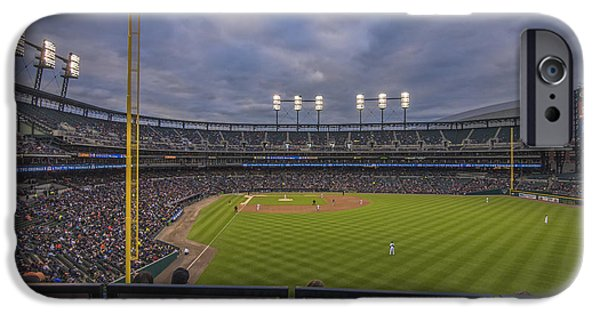 States iPhone Cases - Detroit Tigers Comerica Park Right Field View 1 iPhone Case by David Haskett