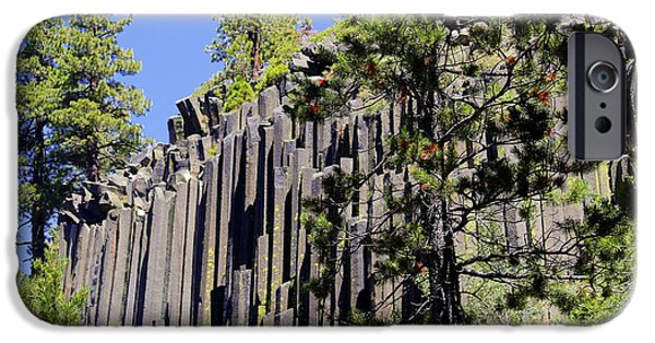 Pile iPhone Cases - Devils Postpile - Americas Volcanic Past iPhone Case by Christine Till