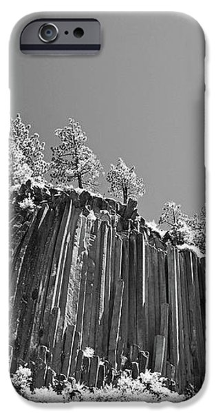 Devil's Postpile - Frozen columns of lava iPhone Case by Christine Till