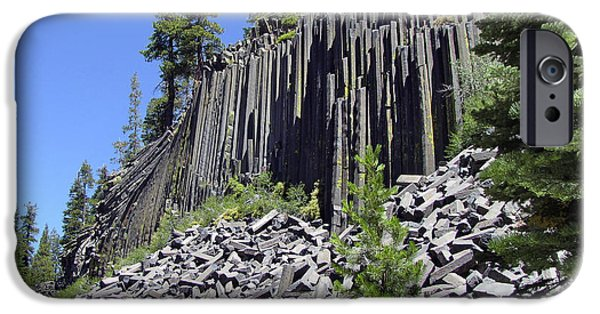 Piles iPhone Cases - Devils Postpile - Natures Masterpiece iPhone Case by Christine Till
