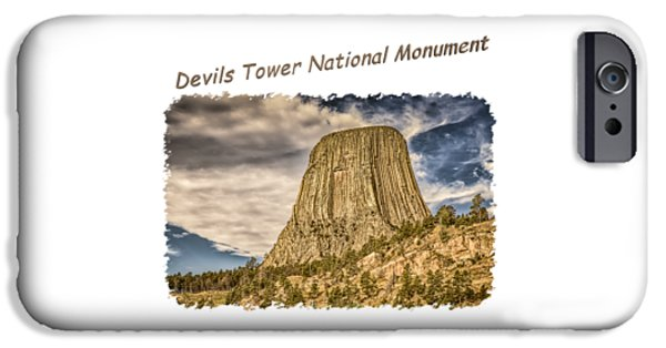 Recently Sold -  - Abstract Digital iPhone Cases - Devils Tower Inspiration 2 iPhone Case by John Bailey