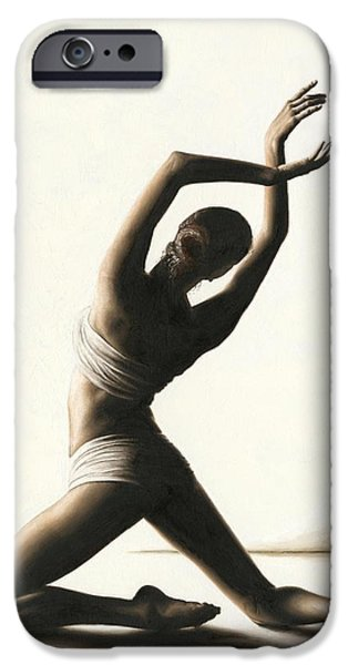 Emotion Paintings iPhone Cases - Devotion to Dance iPhone Case by Richard Young