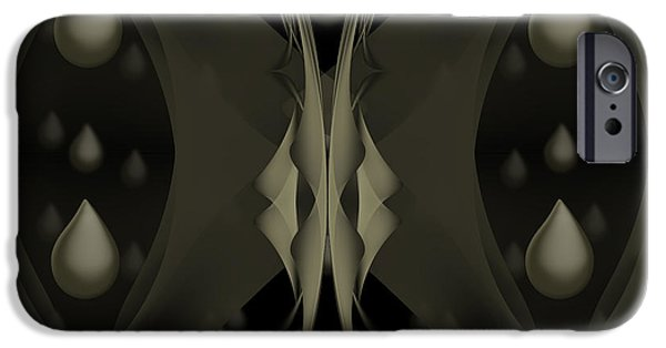 Torn iPhone Cases - Dew Drop Bye iPhone Case by Fabian G