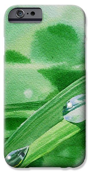 Dew Drops iPhone Case by Irina Sztukowski