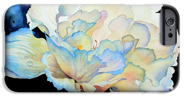 Dew Drops On Peony iPhone Case by Hanne Lore Koehler