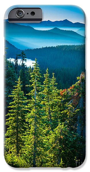 Strong America iPhone Cases - Dewey Lake iPhone Case by Inge Johnsson