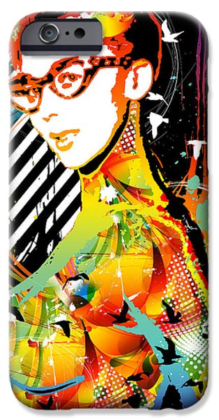 Best Sellers -  - Abstract Digital Mixed Media iPhone Cases - Dexterous Dame iPhone Case by Chris Andruskiewicz