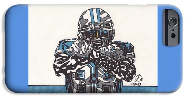 Bryant Drawings iPhone Cases - Dez Bryant 1 iPhone Case by Jeremiah Colley