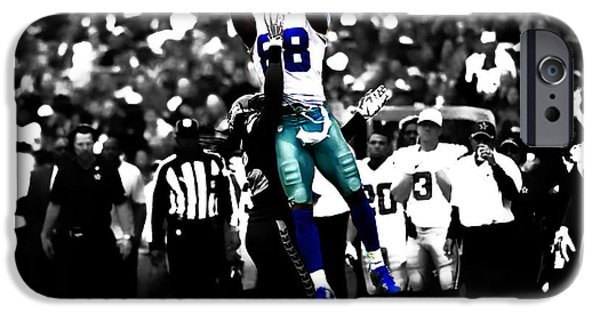 Bryant Mixed Media iPhone Cases - Dez Bryant iPhone Case by Brian Reaves