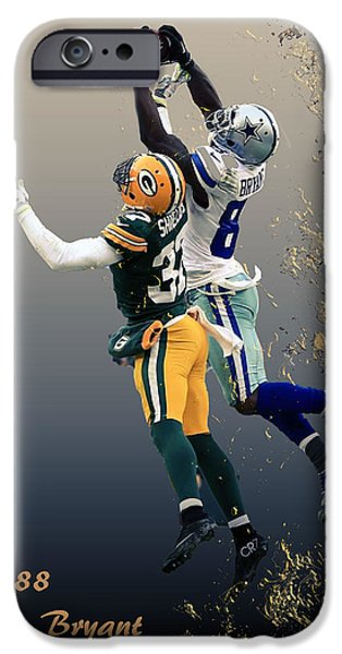 Bryant Mixed Media iPhone Cases - Dez Bryant iPhone Case by Dennis Wickerink