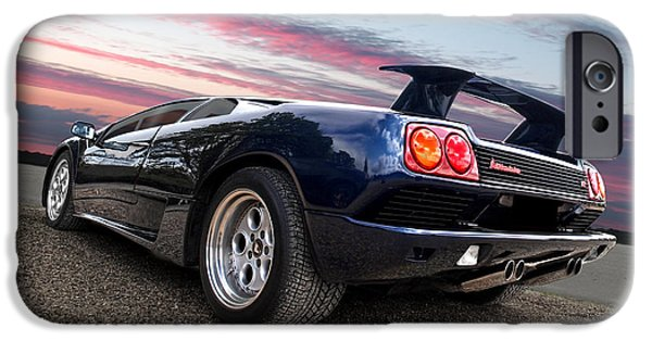 Automotive iPhone Cases - Diablo At Sunset iPhone Case by Gill Billington