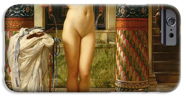 Mosaic iPhone Cases - Diadumene iPhone Case by Sir Edward John Poynter