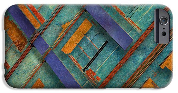 Abstract Digital Photographs iPhone Cases - Diagonal iPhone Case by Don Gradner