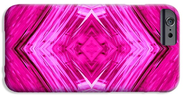 Abstract Digital Tapestries - Textiles iPhone Cases - Diamond Dreams iPhone Case by Suzi Freeman
